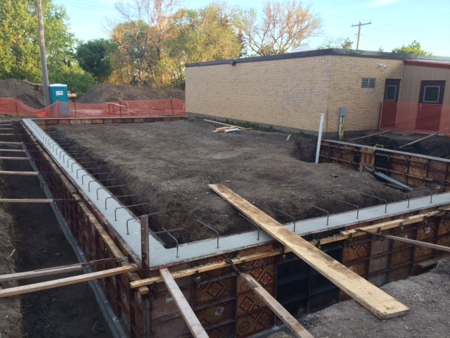 Foundation Walls Are Poured Montpelier Public School